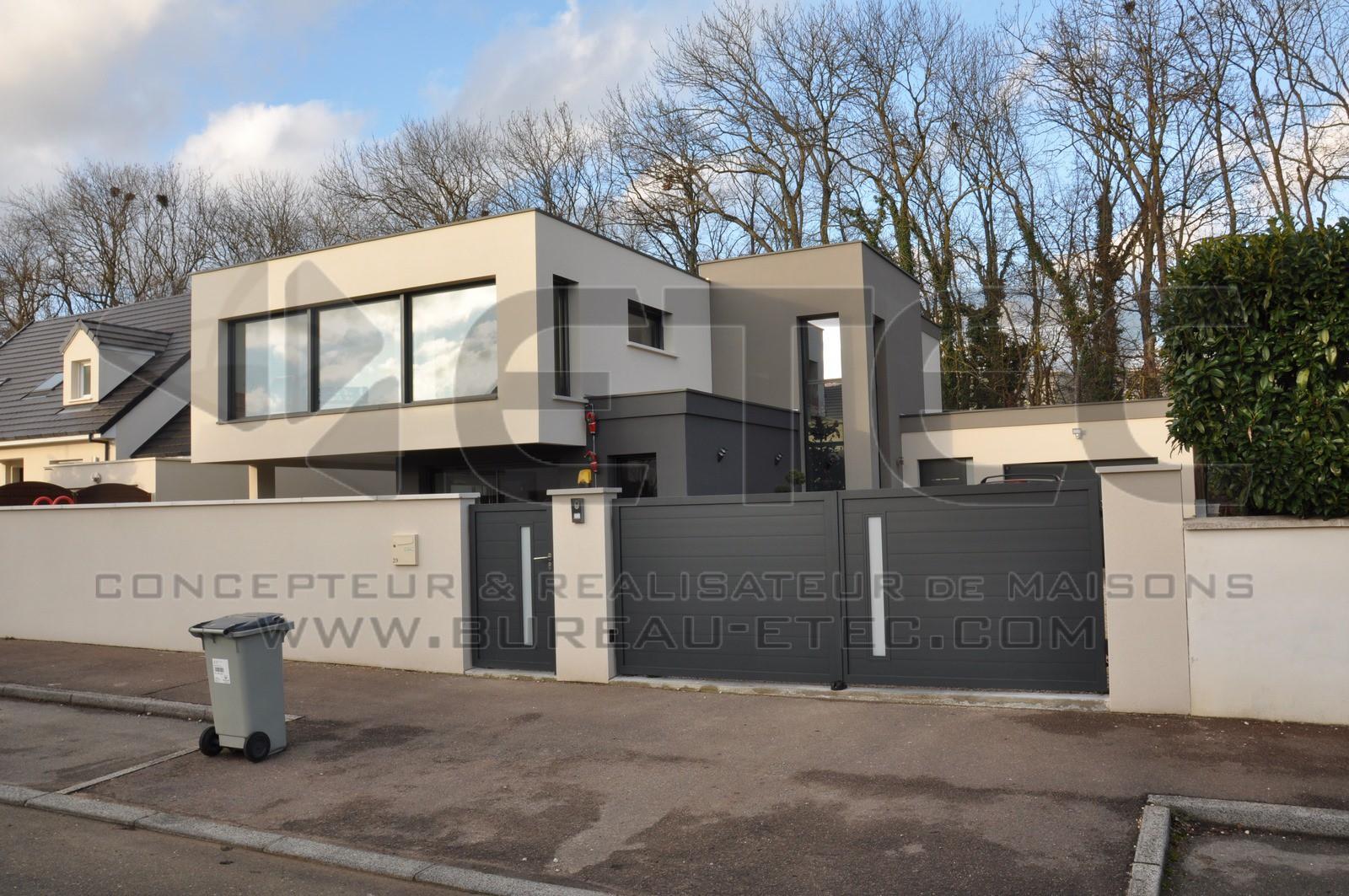 Maison Contemporaine Toit Terrasse maison toit terrasse à dijon