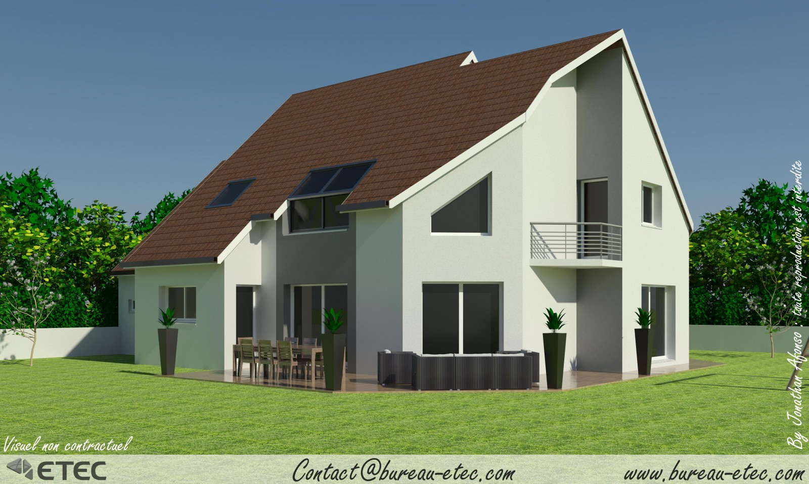 Maison contemporaine plan for Plans maisons contemporaines