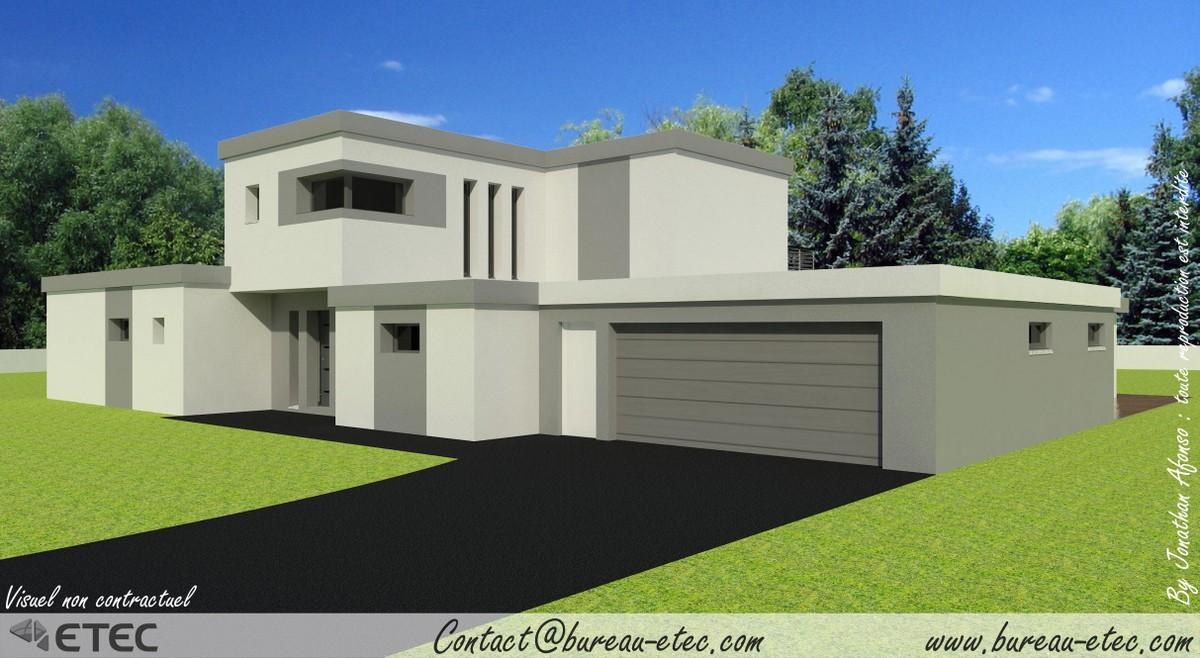 d co maison toit plat montpellier 3321 maison a. Black Bedroom Furniture Sets. Home Design Ideas