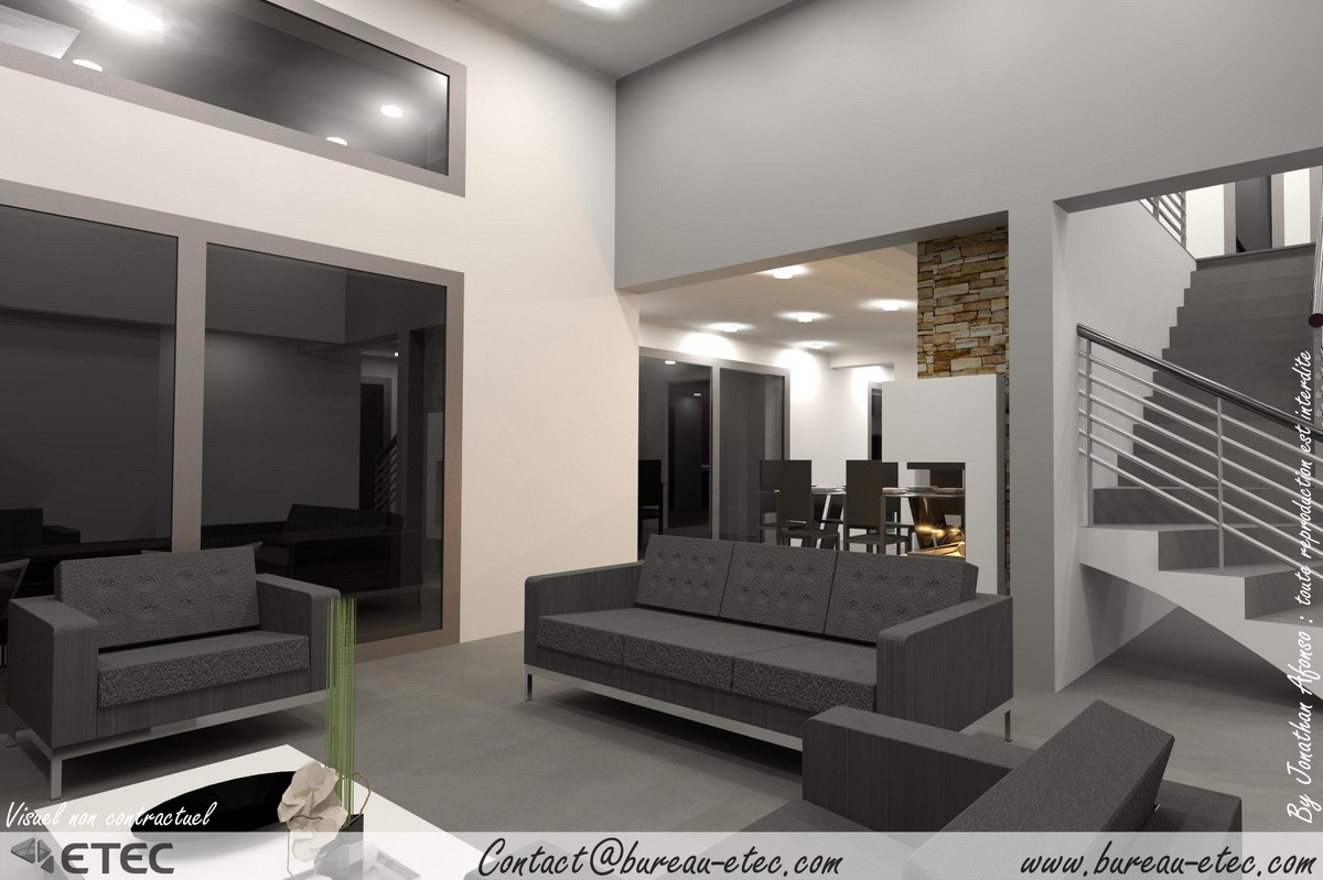 maison toit plat besan on etec. Black Bedroom Furniture Sets. Home Design Ideas