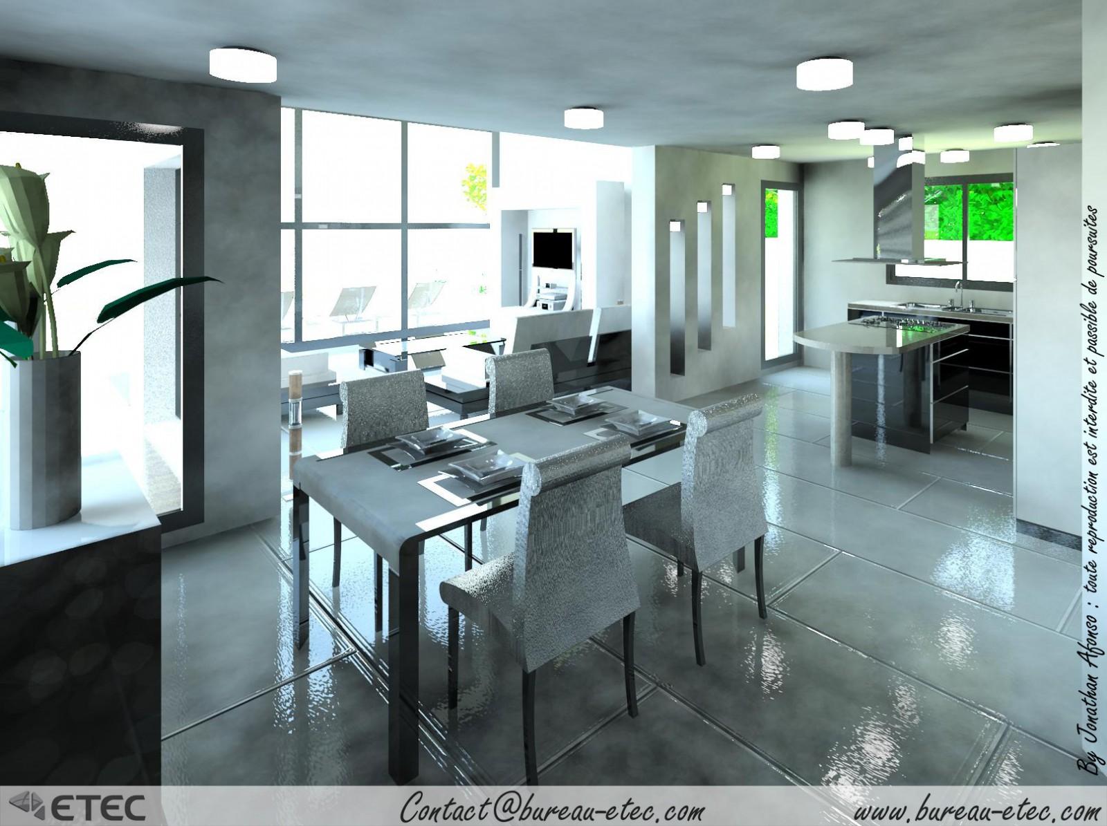 Maison toit terrasse grande fino etec for Toit vitre maison
