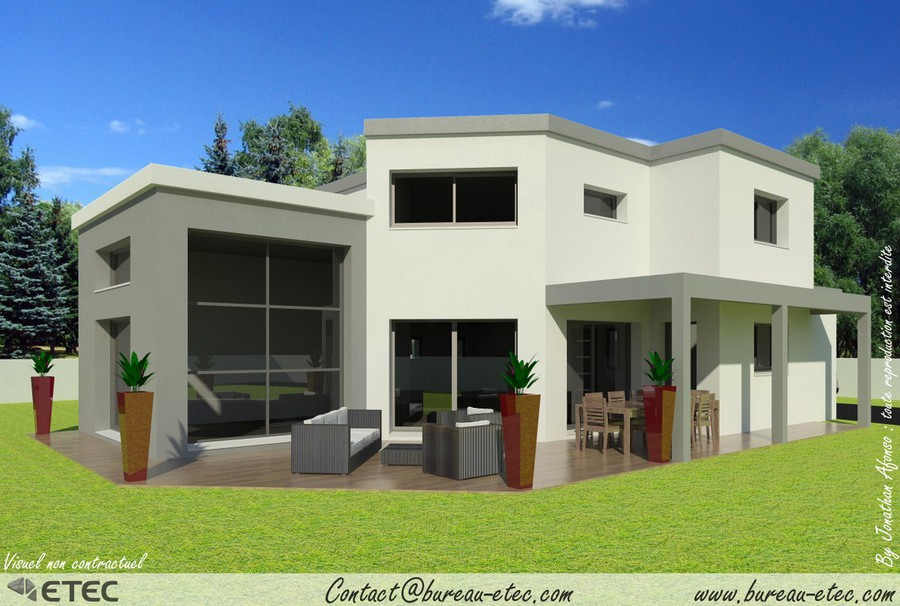 maison toit terrasse besan on ecole valentin. Black Bedroom Furniture Sets. Home Design Ideas