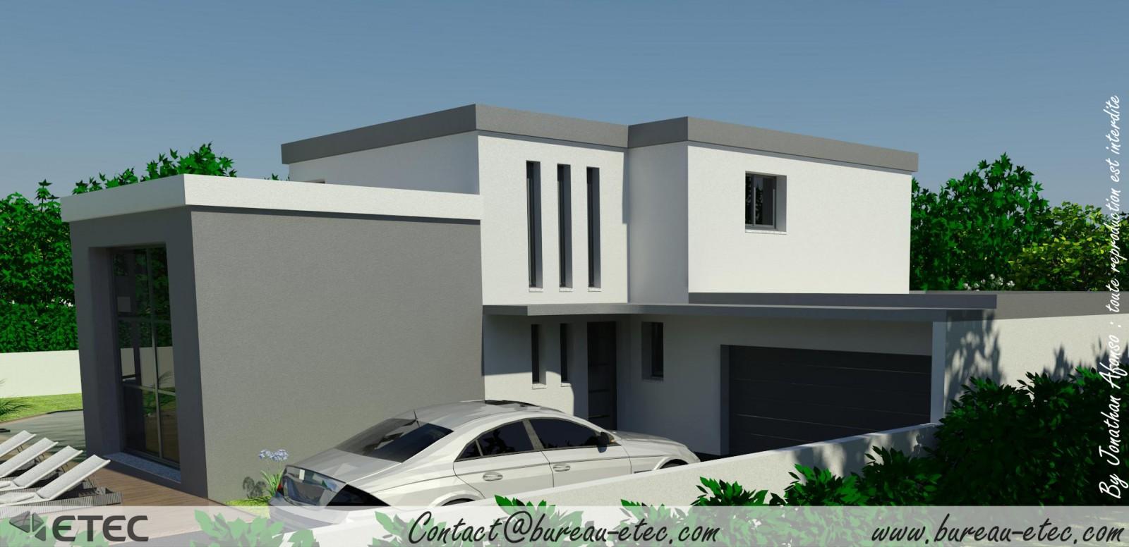 Maison toit terrasse fleurey for Toit toiture