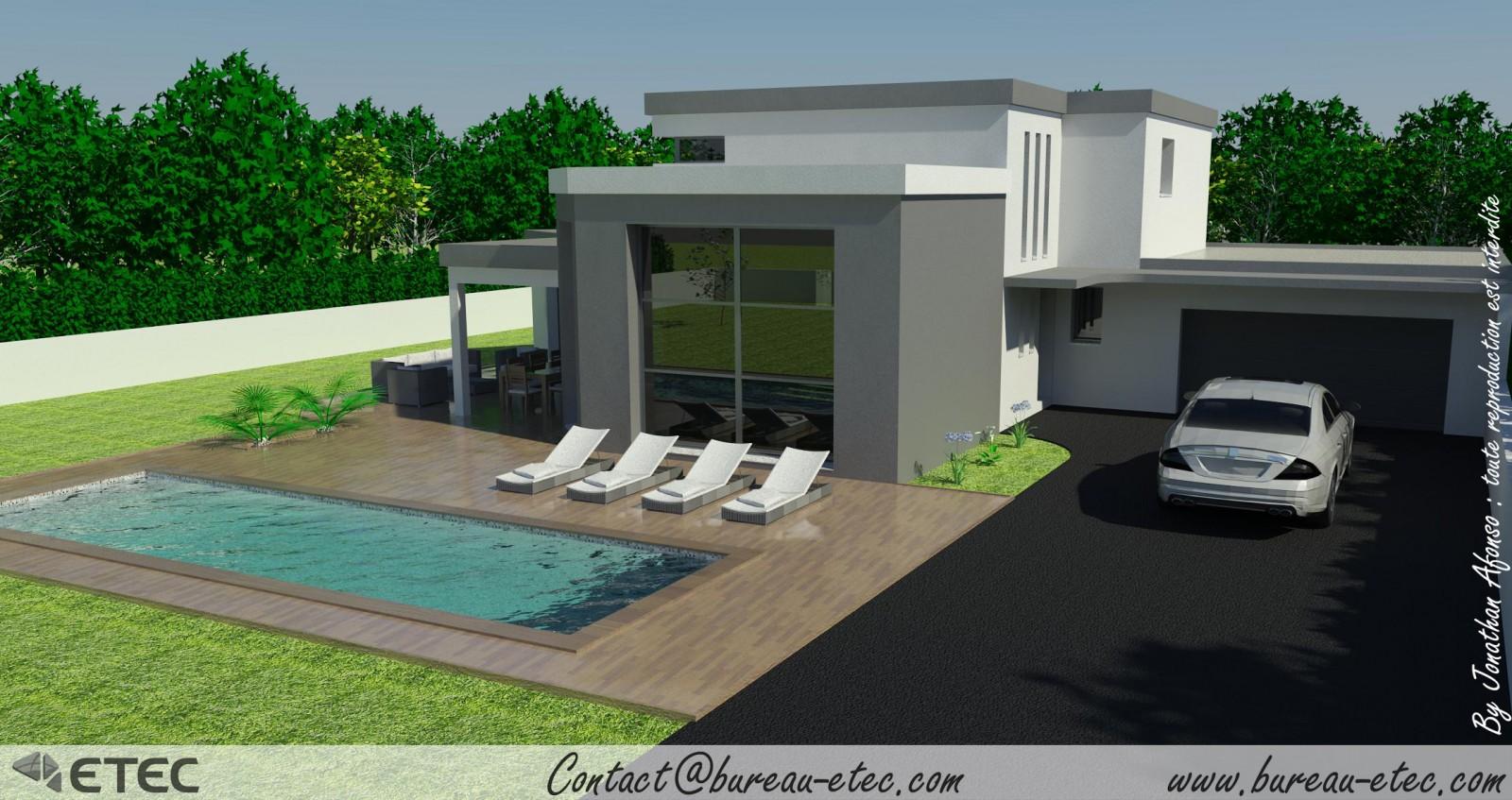 Maison toit terrasse fleurey for Toit plat terrasse