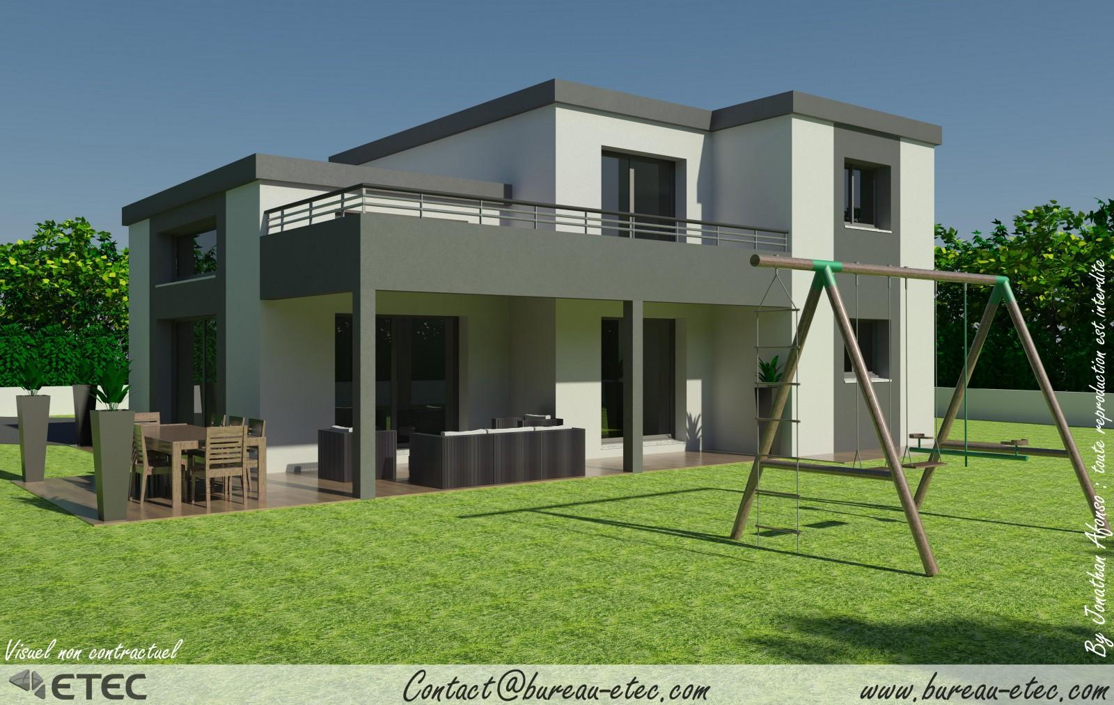 maison toit terrasse dijon sud. Black Bedroom Furniture Sets. Home Design Ideas
