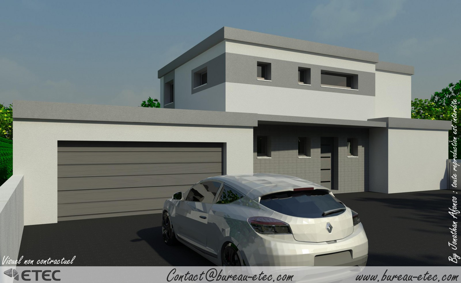 Maison toit terrasse chevigny for Maison toit plat etage