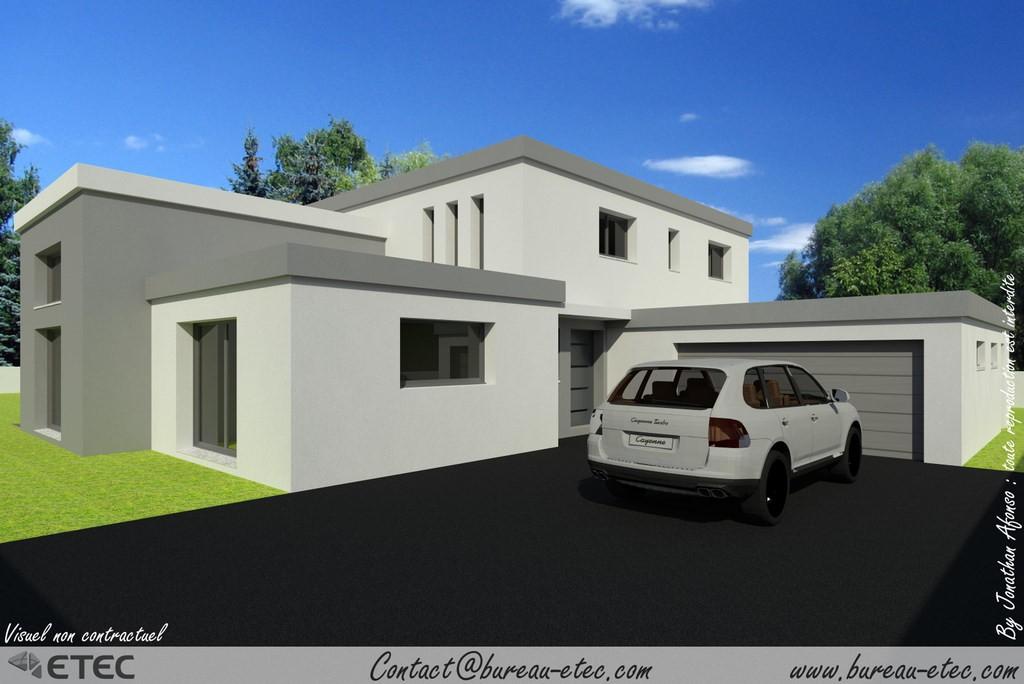 maison toit terrasse pelousey 25. Black Bedroom Furniture Sets. Home Design Ideas