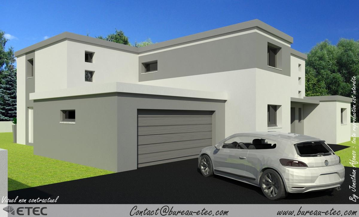 Maison architecte toit plat dcouvrir cette maison plan maison toit plat orchide maiosn moderne Maison cube toit