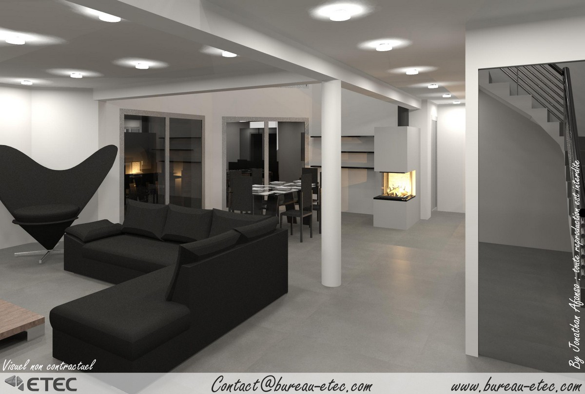 maison contemporaine beaune. Black Bedroom Furniture Sets. Home Design Ideas