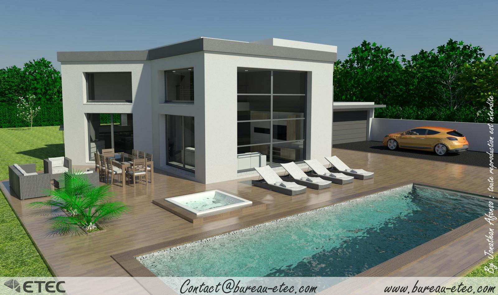 Maison toit terrasse dole 39 - Maison avec balcon terrasse ...