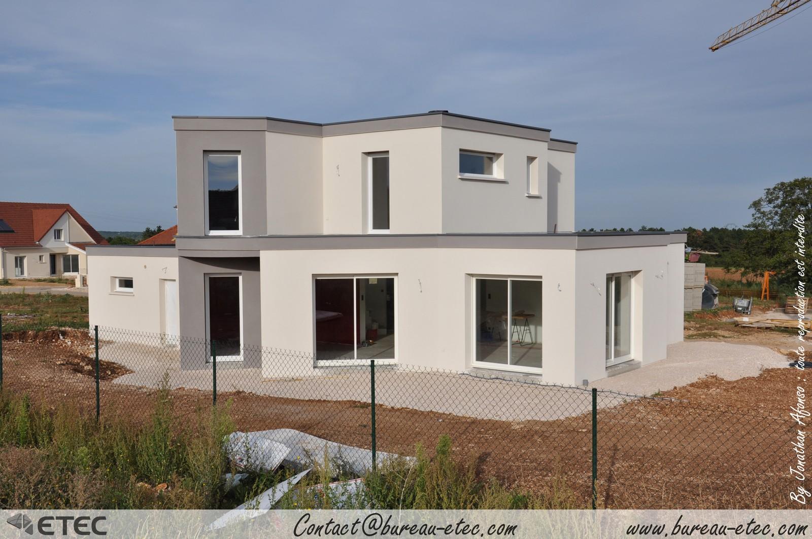 Maison toit terrasse hauteville 1 for Plan maison terrasse