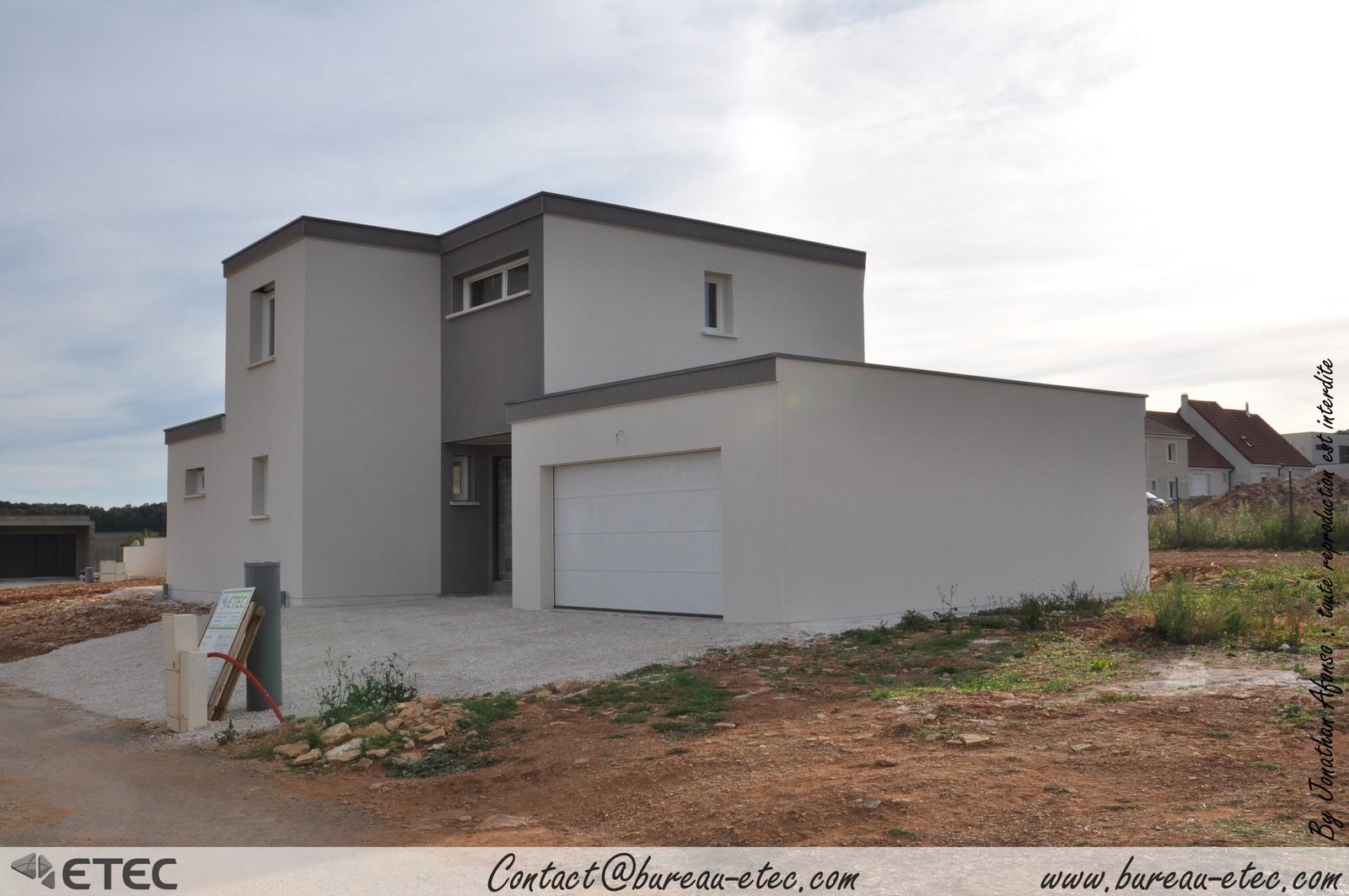 Maison toit terrasse hauteville 1 for Toit plat terrasse