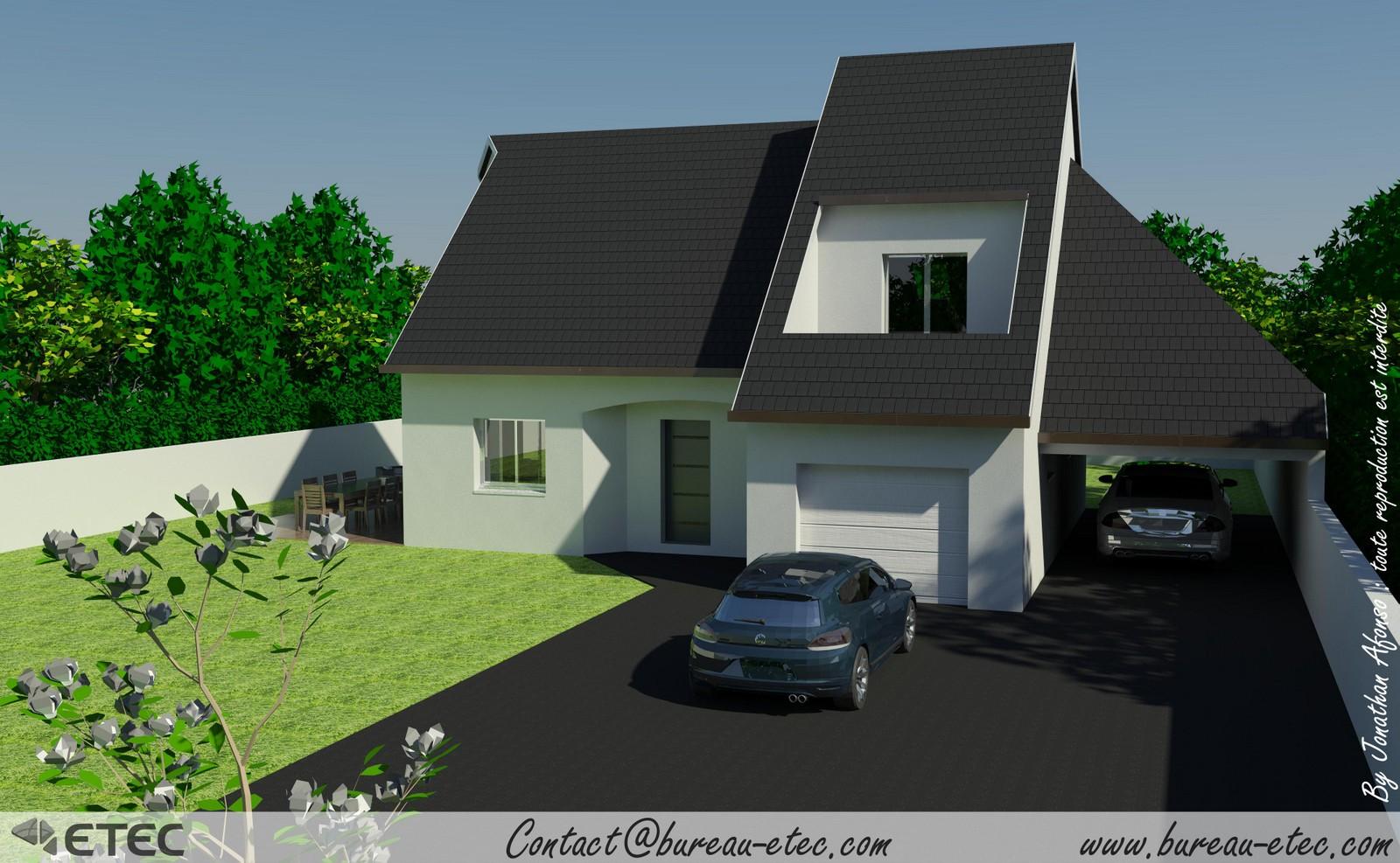 Maison traditionnelle maison contemporaine maison ile de for Maison traditionnelle